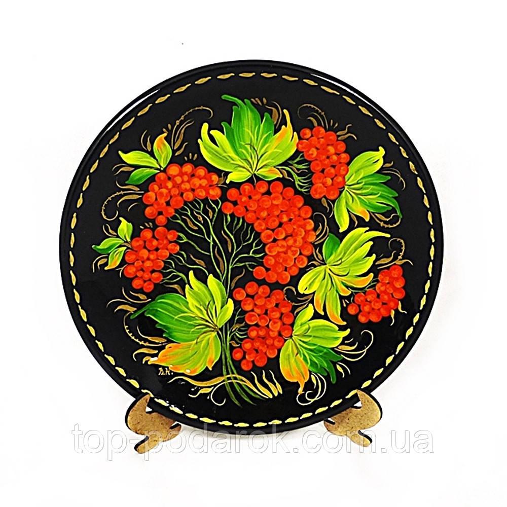 Тарелка Веночек М-11– Петриковская роспись (дерево)