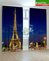 Фотошторы вечерний Париж 3Д