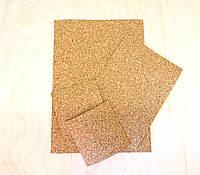 Пробковый мелкозернистый лист 2мм 200х200мм