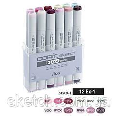 Набор маркеров Copic Sketch Set EX-1, 12 шт/уп