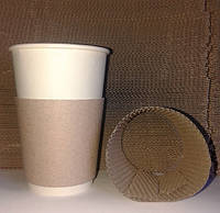 Термочехол, холдер для стаканов (250 и 340 мл) 100 шт. упак, фото 1