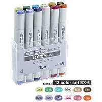 Набор маркеров Copic Sketch Set EX-6, 12 шт/уп