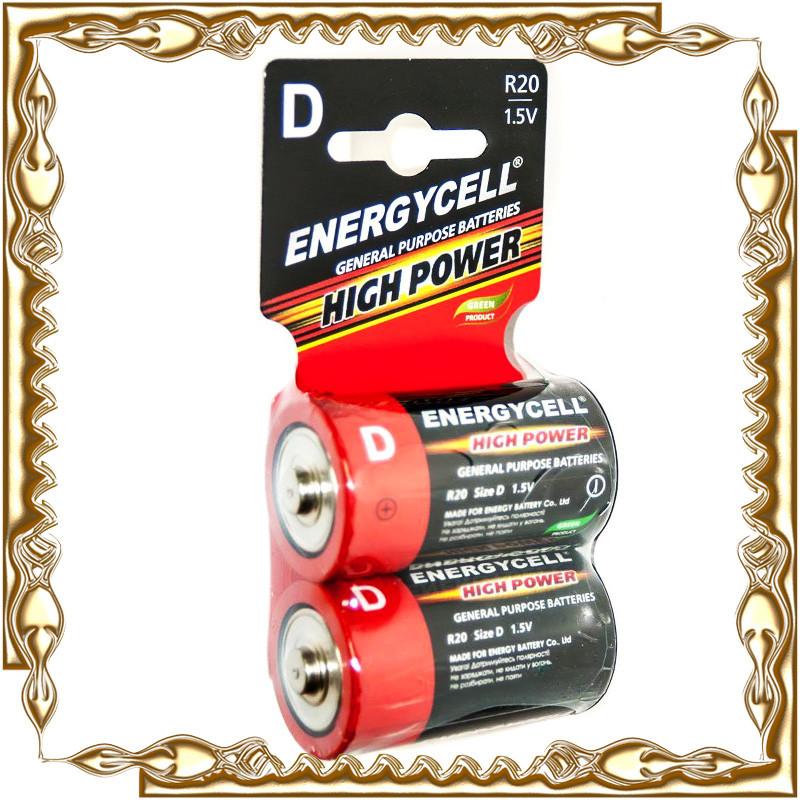 Батарейка Energycell R20 1,5 V (блістер 2 шт) .