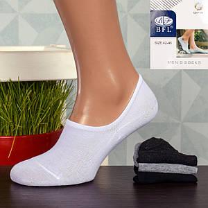 Мужские короткие носки-следы BFL BH01. В упаковке 12 пар. 2 размера!