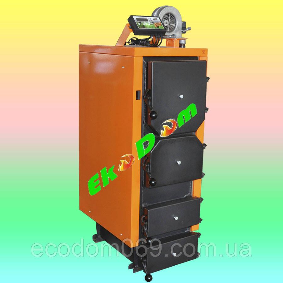 Универсальный котел на твердом топливе Донтерм 10 кВт
