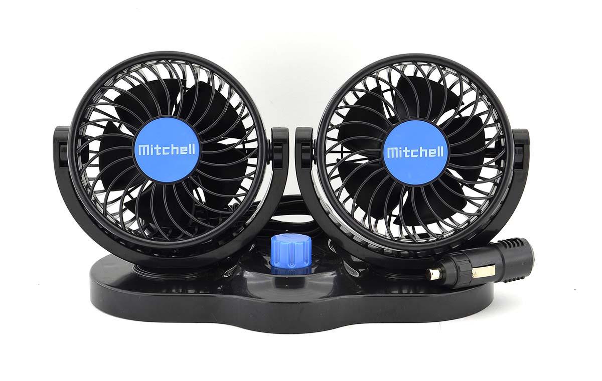 Автомобильный вентилятор в прикуриватель двойной Mitchell 12V