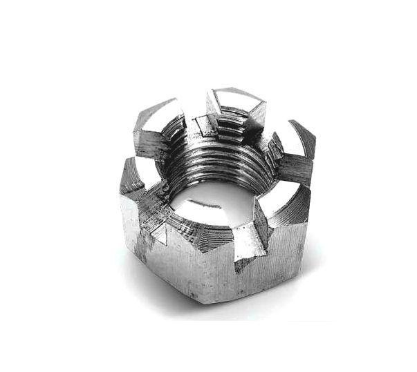 Гайка корончатая М14 ГОСТ 5918-70, DIN 935 из нержавеющей стали А2 и А4