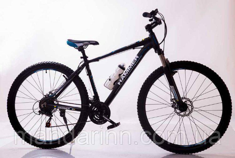 """Спортивный велосипед 29"""" HAMMER Черно-Синий (black-blue)"""