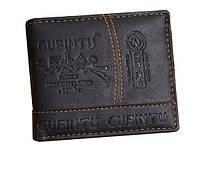 Мужской кошелек GUBINTU Fashion кожаный портмоне Short Черный (SUN0586), фото 1