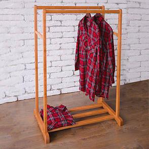 Стойка для одежды Визит 2 (натуральное дерево), фото 2
