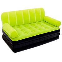 Диван кровать трансформер надувной Bestway 67356 с насосом салатовый