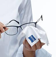 Белая салфетка микрофибра Zeiss. Для оптики, очков, линз, экранов, объективов