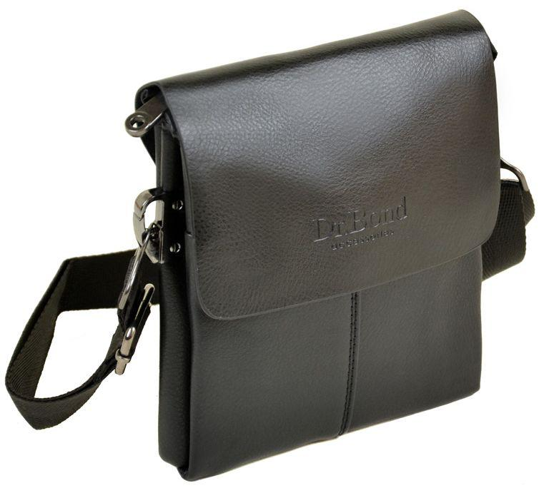 f02df2a990fa Мужская сумка-планшет DR.BOND 207-0 black, черная - SUPERSUMKA интернет