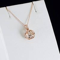 Яркий кулон с кристаллами Swarovski + цепочка, покрытые золотом 0860