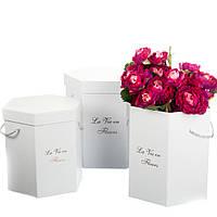 """Шестиугольная коробка для цветов """"La vie en fleurs"""" набор 3шт. (можно поштучно), фото 1"""