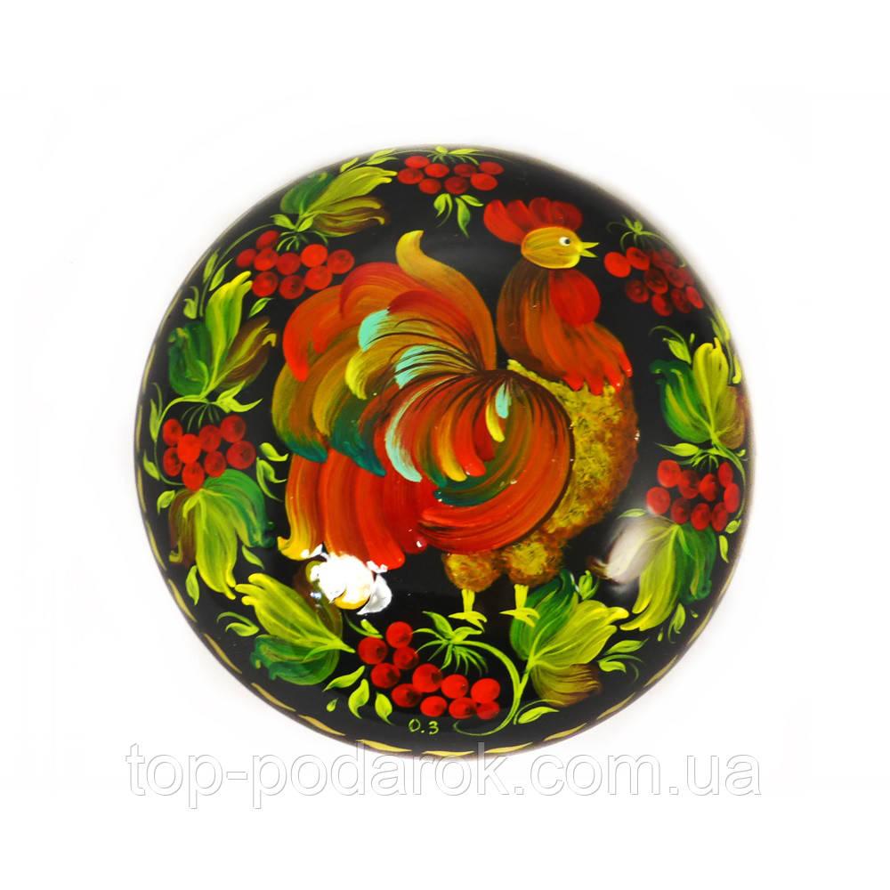Шкатулка  Петушок М-1– Петриковская роспись (дерево)