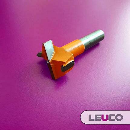 Сверло Форстнера (чашечное) Leuco для сверлильно-присадочных станков, 26х57,5х10 (левое), фото 2