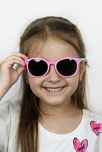 Солнцезащитные детские очки Фауна розовые