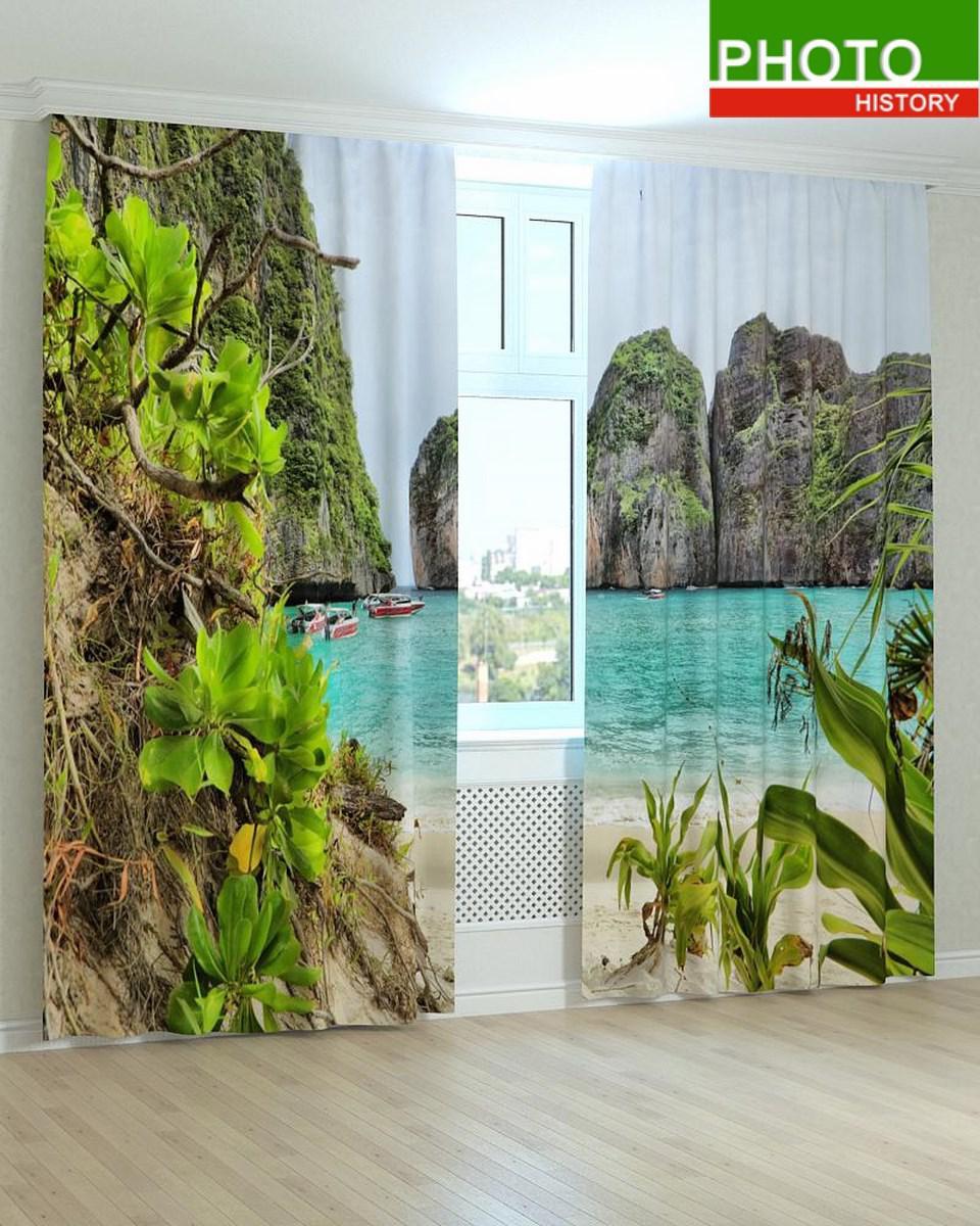 Фотошторы пейзажи в гостиную и спальню