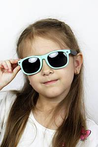 Солнцезащитные детские очки Фло бирюзовые