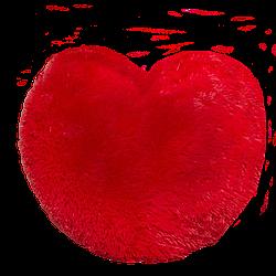 Мягкая игрушка: Подушка в виде Сердца 37 см