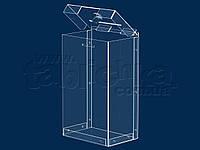 Короб 3,75 л 150х250х100мм, Акрил прозр. 1,8 мм, фото 1