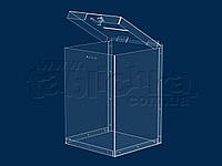 Ящик для пожертвований с замком  12,0л 200х300х200мм, акрил 1,8мм, фото 1