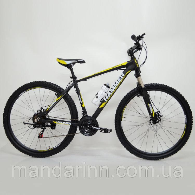 """Спортивный велосипед 29"""" HAMMER Черно-Желтый (black-yellow)"""