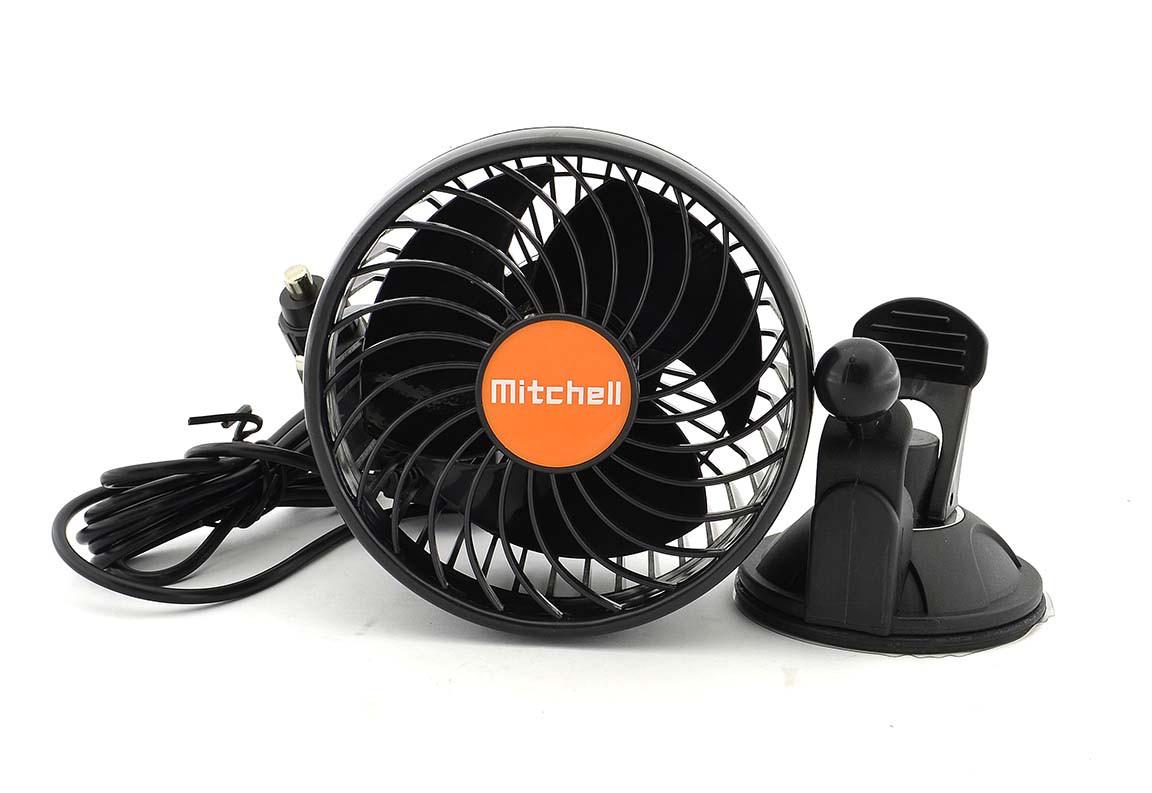 Вентилятор автомобильный в прикуриватель присоска Mitchell 24V