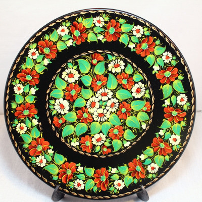 Тарель Летние краски М-5 Петриковская роспись (дерево)