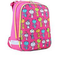 Рюкзак шкільний каркасний для дівчинки 1 ВЕРЕСНЯ H-12 Kotomaniya rose 554575 38 * 29 * 15 см