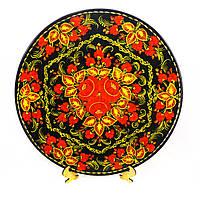 Тарель Осенние краски– Петриковская роспись (дерево)