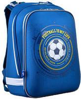 Рюкзак шкільний каркасний для хлопчика 1 ВЕРЕСНЯ H-12 Football 554593, 38 * 29 * 15 см
