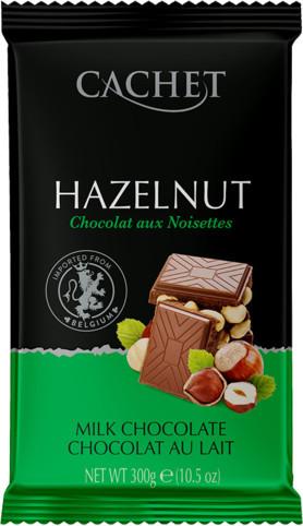 Шоколад Cachet молочный с фундуком 300г