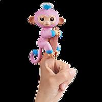 Интерактивная двухцветная обезьянка WowWee Кенди розово-голубая (W37204/3722)