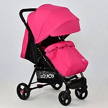 Коляска прогулочная со съемным чехлом Joy Т200. Регулирующая спинка, розовая