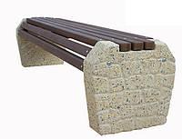 Лавка бетонная без спинки Валун