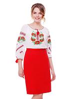 """Вишита жіноча блуза """"Квіткова"""" розміри в наявності, фото 1"""