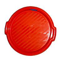 Разнос круглый пластмассовый 37 см Гемопласт