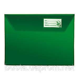 Папка-конверт для тетради А5 п/э зеленая