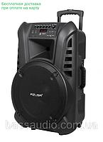 """Аккумуляторная колонка 15"""" с усилителем AZUSA (с 2-мя бесп.микрофонами, SD, Bluetooth, USB) Лучшая !, фото 1"""