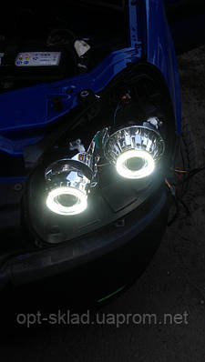 Светодиодные ангельские глазки  LED для биксеноновых линз G6 с функцией поворота 3,0 дюйма