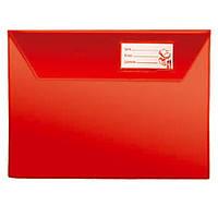 Папка-конверт для тетради А5 п/э красная