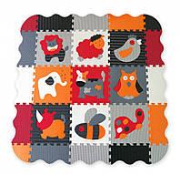 Дитячий ігровий килимок - пазл Baby Great Веселий зоопарк з бортиком 122х122см (GB-M129A4E)