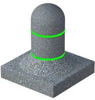 Столбик лайт круг (цвет серый) с подсветкой (красная, белая)