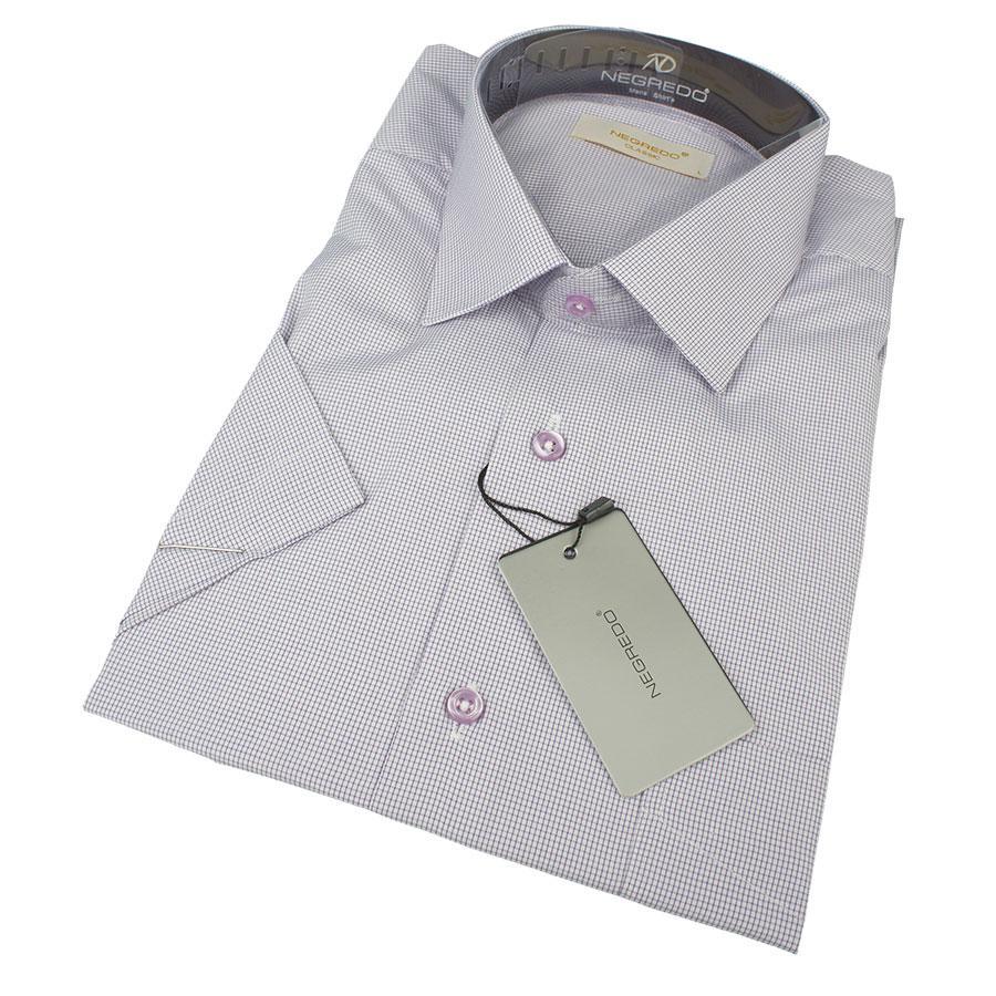 Мужская класическая рубашка Negredo 0310 H Classic С размер L в мелкую клетку