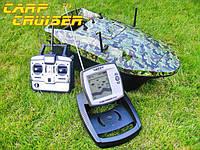 Кораблик для прикормки CarpCruiser-CF9 с эхолотом LUCKY FF918, радиоуправляемый для рыбалки, фото 1