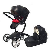 Детская коляска Foofoo Vinng  2в1 Черная экокожа