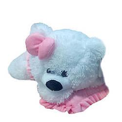 Мягкая игрушка: Мишка-малышка, 45 см, Белый с розовым