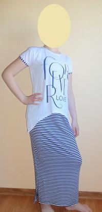 Комплект юбка с туникой